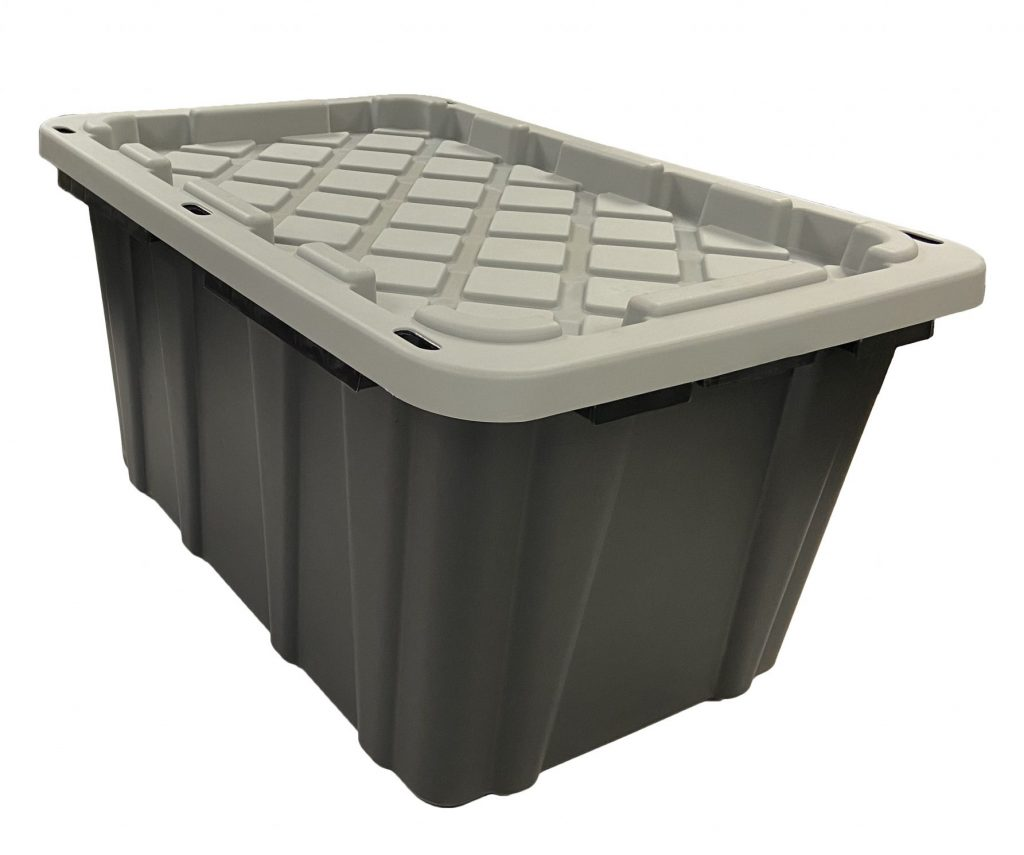 industrial polymer storage containers - 27 Gallon with Grey Lid